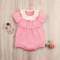 Baby Girls Romper Toddler Short Sleeve Ruffle Bodysuit Outfit - ccbabe