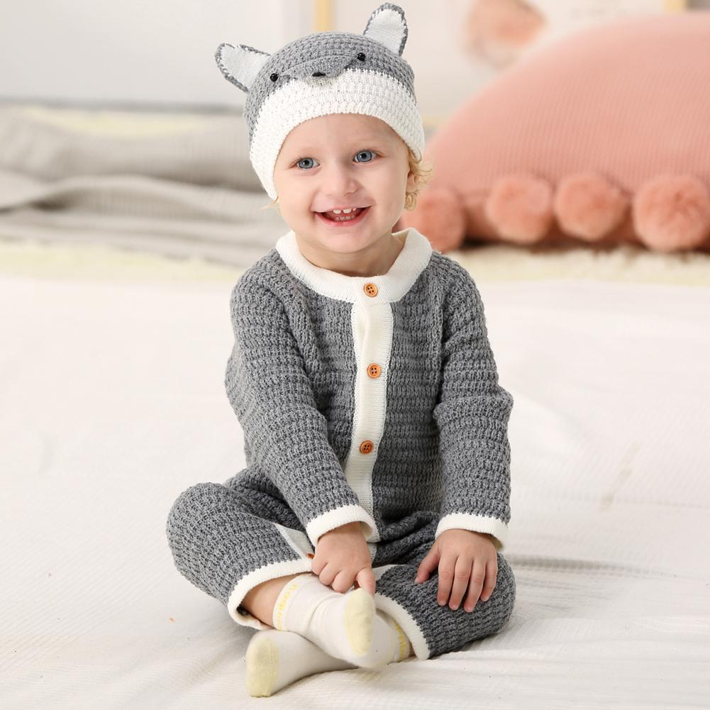 Baby Kids Cute Knitted Jumpsuits Sweater Long Sleeves Romper - ccbabe