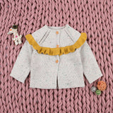 Baby Girl Cardigan Sweater Long Sleeve Knitwear Coat - ccbabe