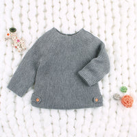 Baby Girl Sweater Knit Long Sleeve Pullover Outwear - ccbabe