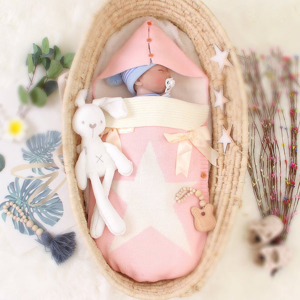 3-7 Days Delivery Newborn Baby Wrap Swaddle Blanket,Knit Sleeping Bag Sleep Sack - ccbabe