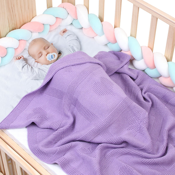 Baby Stroller Blanket Toddler Knitted Blankets Crib Quilt Bedding - ccbabe