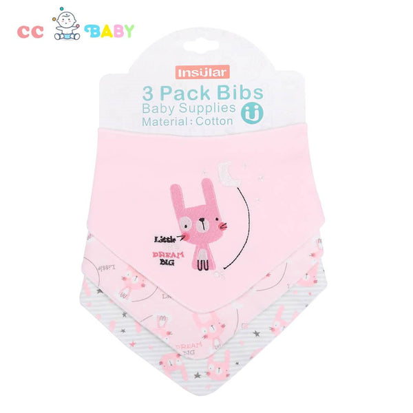3 Pack Fashion Baby Bibs Newborn Toddler Triangle Scarf Infant Bandana Drool Bibs Burp Cloths Saliva Towel - ccbabe
