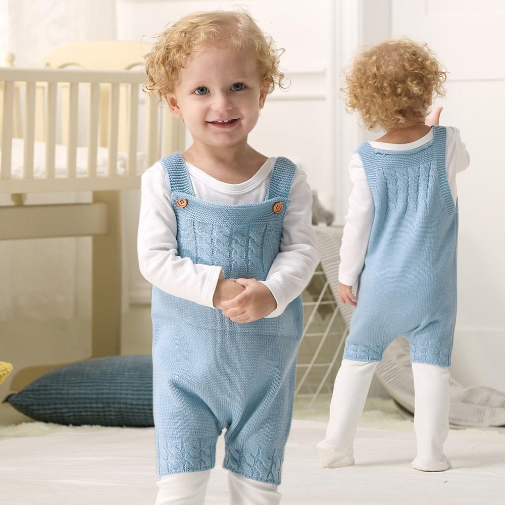 Baby Knit Romper Toddler Jumpsuit Little Girls Sunsuit - ccbabe