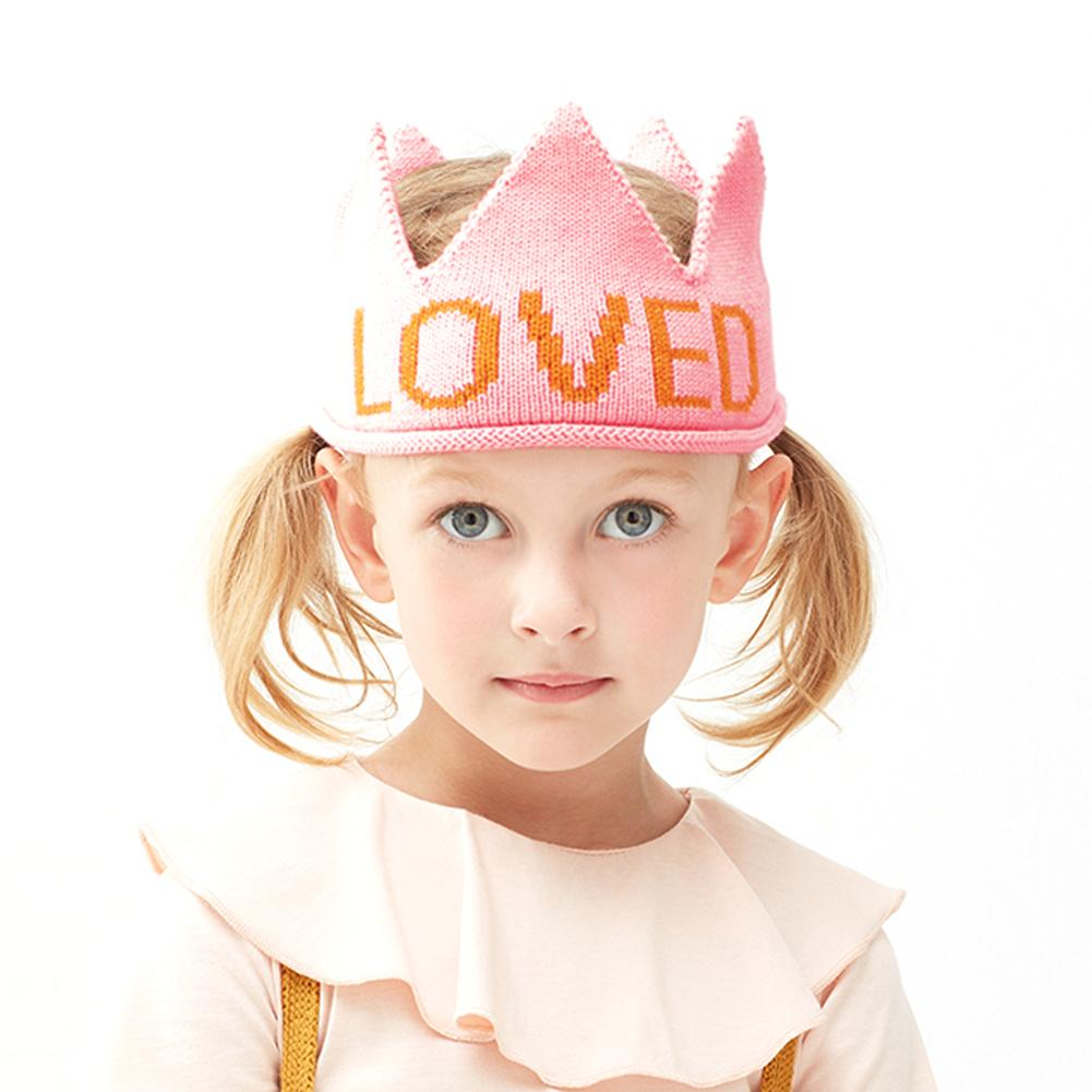Baby Girls Knit Hat Toddler Boys Crown Birthday Party Beanie Cap - ccbabe