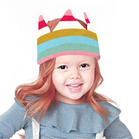 Baby Knit Hat Toddler Crown Rainbow Birthday Party Beanies Cap - ccbabe