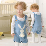 Baby Knit Rompers Clothes Toddler Jumpsuit Easter Bunny Sleeveless Outfit - ccbabe