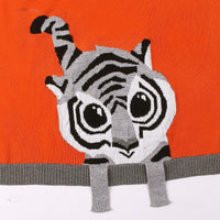 Baby Blankets Knitted Double Layer Soft Cellular Pram Blankets,Tiger Patterns - ccbabe