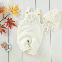 Baby Rompers Sleeveless Newborn Infant Kids Unisex Sweaters Jumpsuits Outfits Autumn Winter Warm Knitted Children's Clothes 2pcs