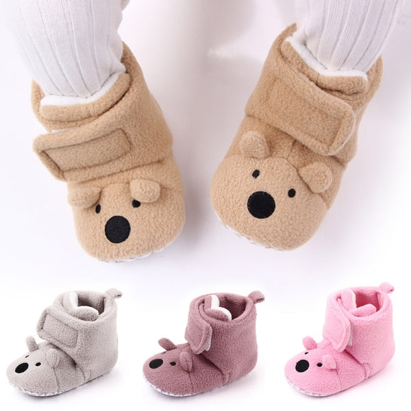 Warm Newborn Toddler Boots Spring First Walkers baby Girls Boys Shoes Soft Sole Fur Snow Booties for 0-18M