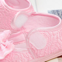 Newborn Infant Lace Girls Soft Sole Prewalker Cute bow Baby  Warm Casual Flats Shoes Crib Footwear First Walkers