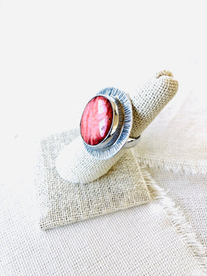 Red Spiny Oyster Shell Ring