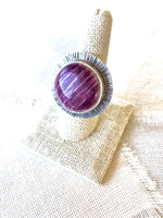 Purple Spiny Oyster Shell Ring
