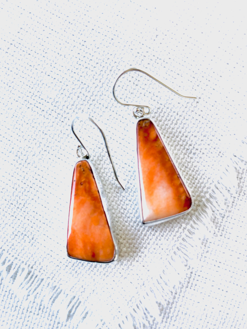 Orange Spiny Oyster Shell Earrings