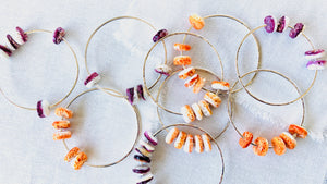 Orange Spiny Oyster Shell Bangle Bracelet