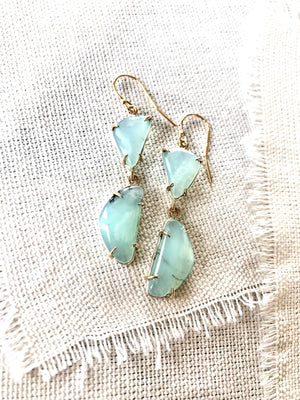 These Peruvian Blue Opal earrings are so light, bright, and versatile.
