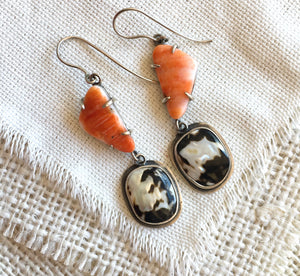 Spiny Oyster Shell Earrings, Spiny Oyster Shell,  Spiny Oyster Shell Jewelry