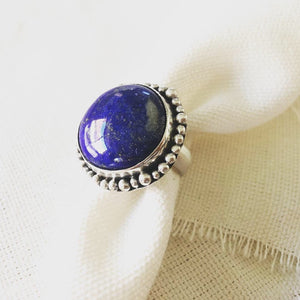 Lapis Ring, Lapis Statement Ring, Large Lapis Ring, Lapis Jewelry, Lapis Lazuli Jewelry, Statement Ring