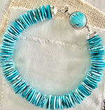 Turquoise Collar Necklace, Turquoise Statement Necklace