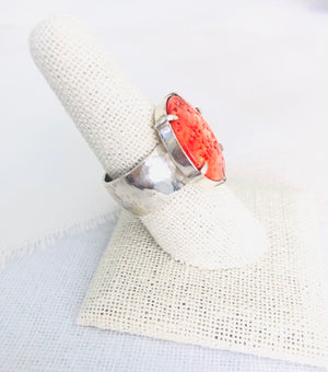 Spiny Oyster Shell Ring, Spiny Oyster Ring, Spiny Oyster Jewelry, Spiny Oyster