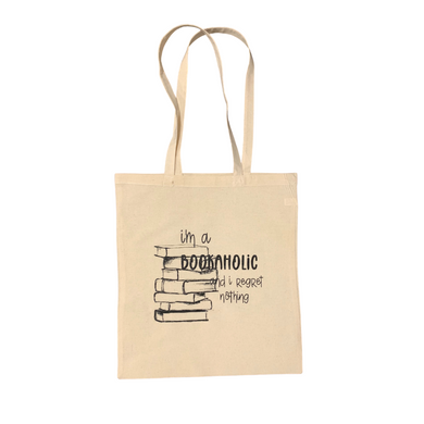 I'm a Bookaholic and I regret nothing - Tote Bag