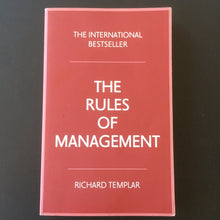 Load image into Gallery viewer, Richard Templar - The Rules of Management