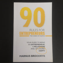 Load image into Gallery viewer, Marnus Broodryk - 90 Rules for Entrepreneurs
