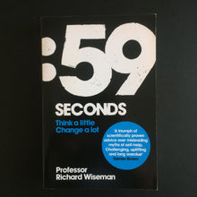 Load image into Gallery viewer, Professor Richard Wiseman - 59 Seconds