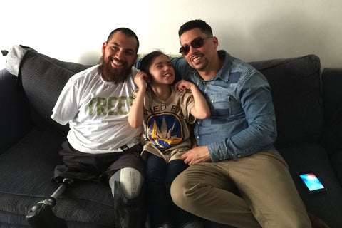 Jose with Tuffy and her father Ricardo