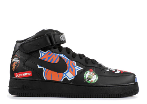 "Nike Air Force 1 Mid x Supreme x NBA ""Black"""