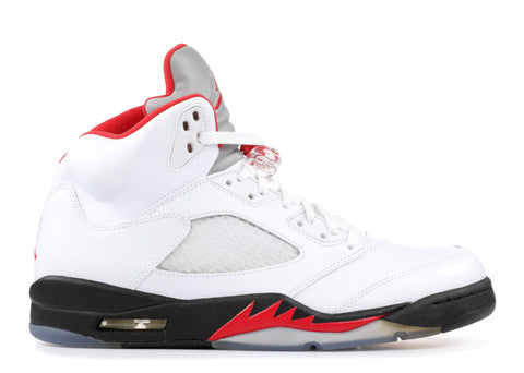 68a6e3259cb4 Air Jordan 5 Retro (2013) white fire red-black