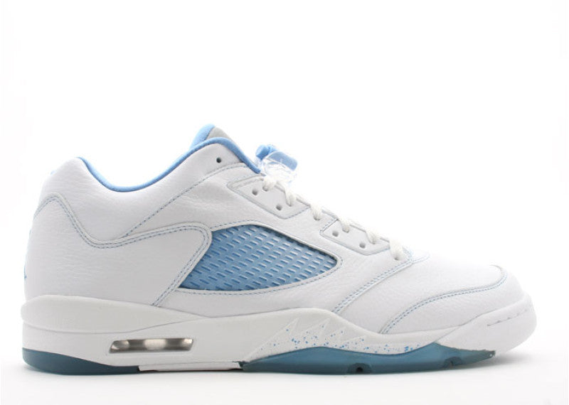 best service 0e7d1 36b6c Air Jordan 5 Retro Low white unc blue