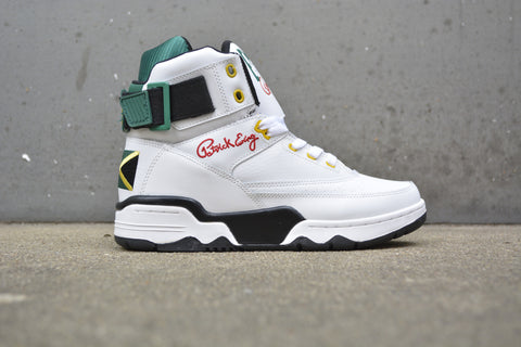 "Ewing 33 Hi ""Jamaica"" white/green-yellow"