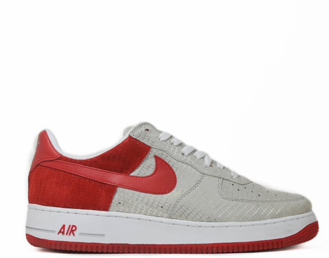 Nike Air Force 1 Premium metallic silver/red