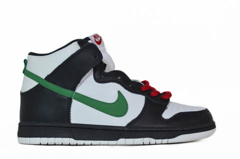 Nike Dunk High white/classic green-red
