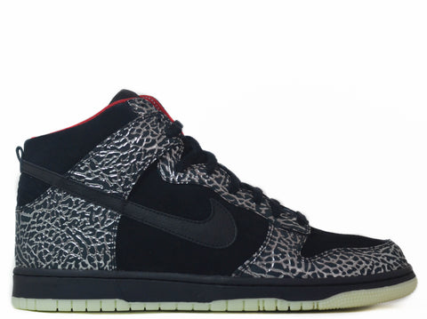"Nike Dunk High ""I.D."" black/silver-red"