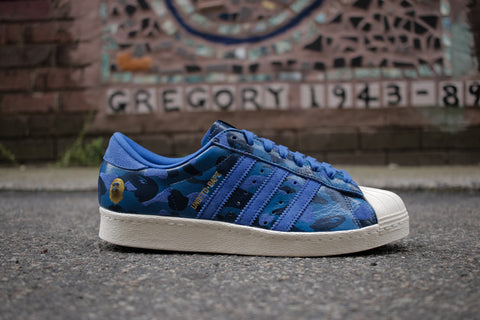 "Adidas Superstar x Bape ""Blue Camo"""