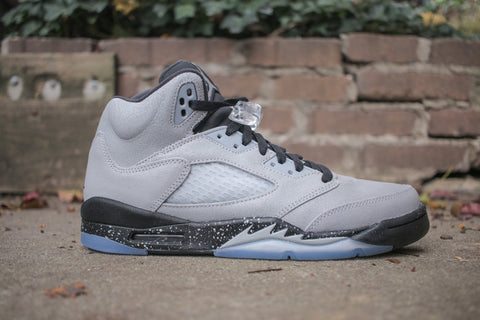 Air Jordan 5 Retro GS wolf grey/black