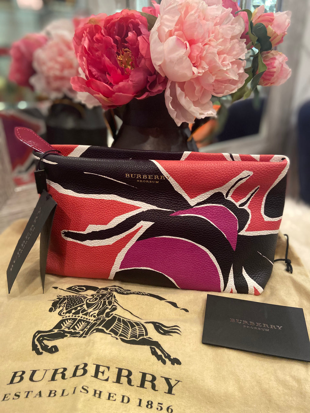 Burberry Prorsum Bee Leather Clutch