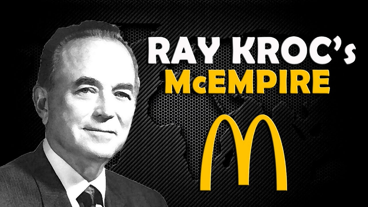 Ray Kroc building McDonalds into a great fast food chain. Bought it from Maurice and Richard McDonald.