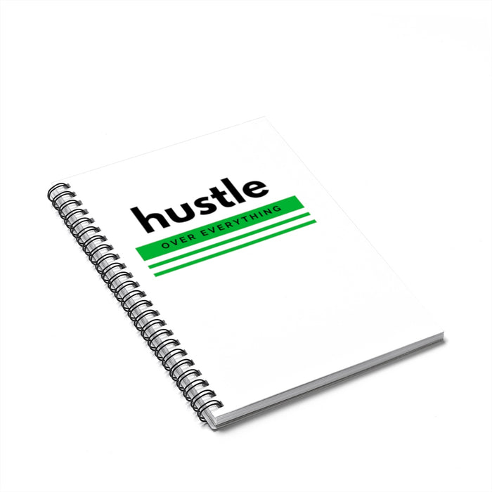 Green Hustle Spiral Notebook - Ruled Line