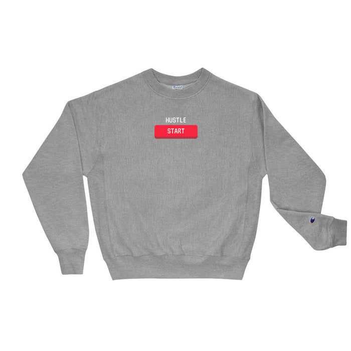 Start The Hustle Champion Sweatshirt - Grey