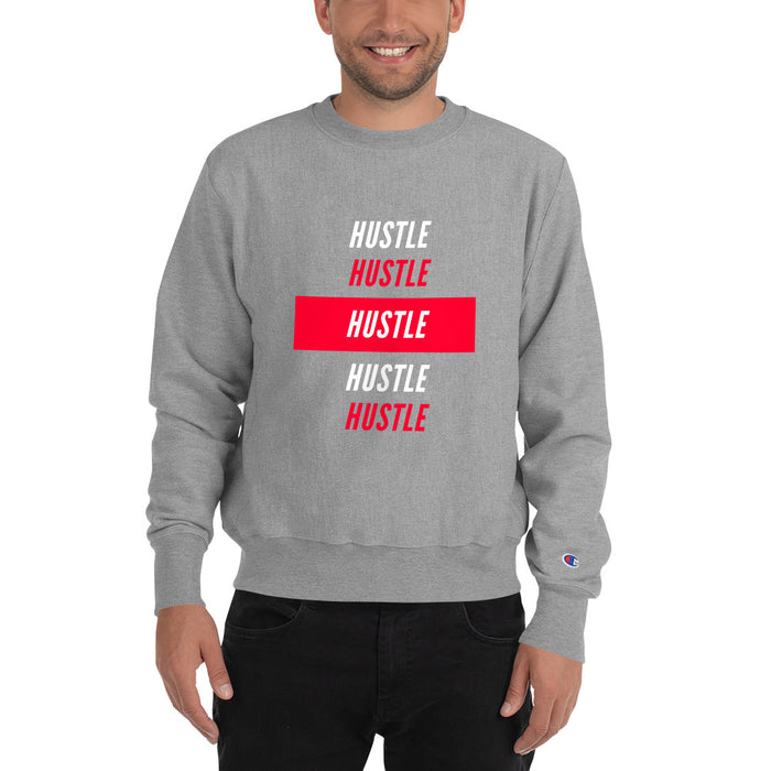 Hustle Over Hustle Champion Sweatshirt - Grey