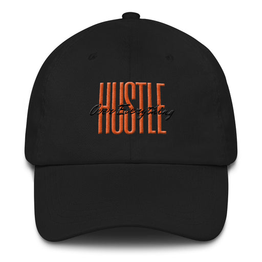 Throwback Hustle Snapback Hat - Black