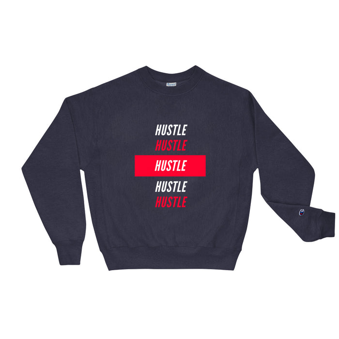 Hustle Over Hustle Champion Sweatshirt - Navy