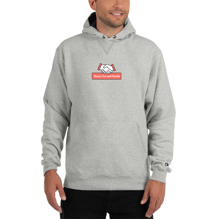 Reach Out & Hustle Champion Hoodie - Grey