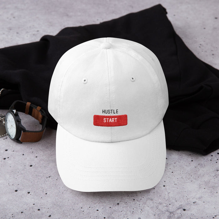 Start The Hustle Snapback Hat - White