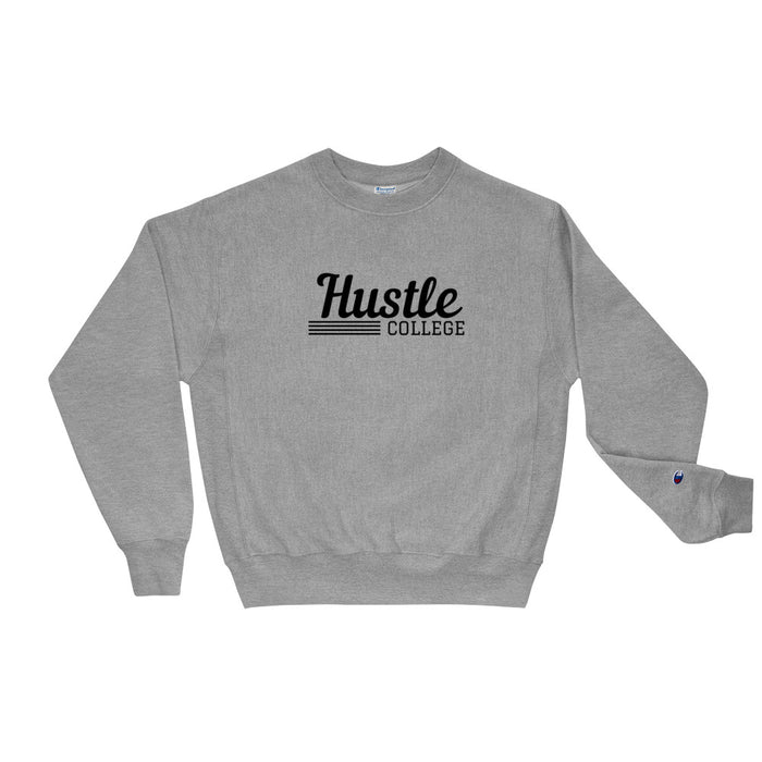 Hustle College Champion Sweatshirt - Grey