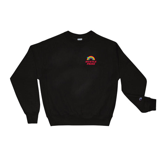 Hustle Pride Champion Sweatshirt - Black