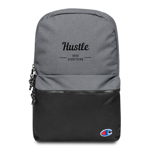 Hustle & Flow Embroidered Champion Backpack - Black